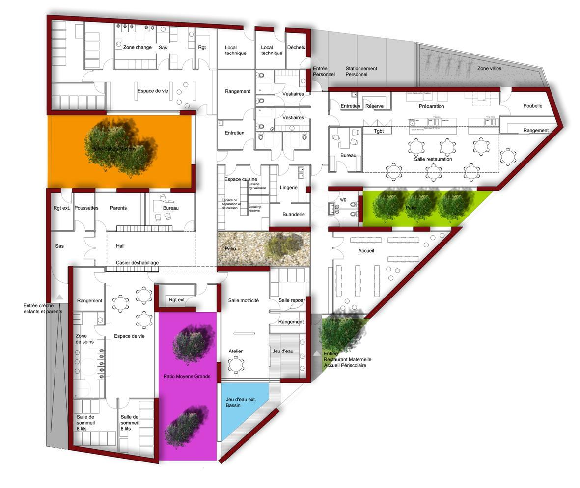 Plan2 hb more architectes nimes for Hb architectes
