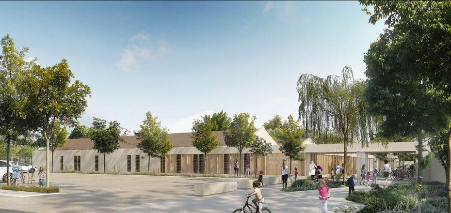 Hb more architectes nimes groupe scolaire de laure for Hb architectes