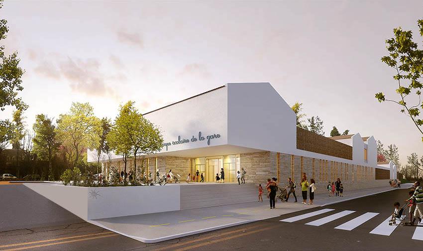 Hb more architectes nimes groupe scolaire de la gare for Hb architectes
