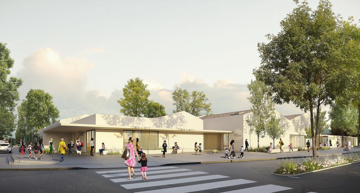 Hb more architectes nimes groupe scolaire marcel pagnol for Hb architectes